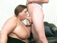 Funky chubby girl sucks meaty cock bbw mpegs