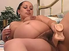 Pregnant woman plays with fat dildo bbw mpegs