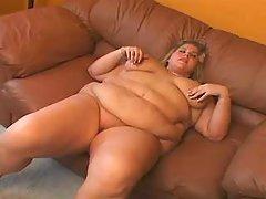 Blond fatty enjoys vibrator on sofa bbw mpegs