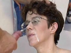 Pregnant milf gets cumload on face bbw mpegs