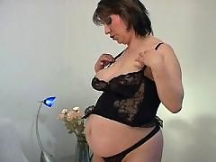 Brunette preggo gets double cumload bbw mpegs
