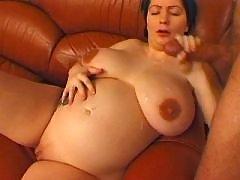 Pregnant mature gets cum on boobs bbw mpegs