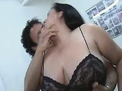 Mature BBW with big tits spoils man bbw mpegs