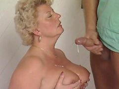 Mature BBW gets cum on round tits bbw mpegs