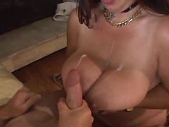 Chubby mature gets cumload on boobs bbw mpegs