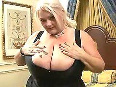 Fat granny with huge tits shows off bbw mpegs