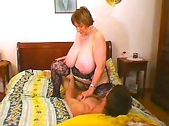 Fat granny fucked and cummed by guy