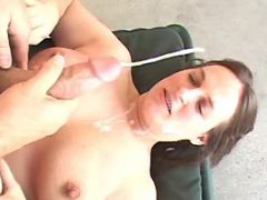 Horny fatty gets cumload in mouth