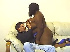 Megabusty black vixen blowing dick