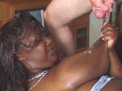 Fat black slut gets cum on table bbw mpegs