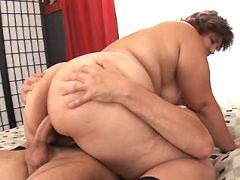 Horny fatty fucked by man in bed bbw mpegs