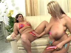 Chubby lesbians have fun w sextoys bbw mpegs