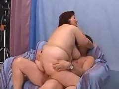 Chesty fatty jumping on cock on bed bbw mpegs