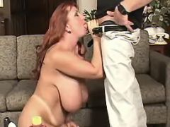 Breasty redhead plumper sucks cock bbw mpegs