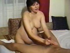 Brunette pregnant milf spoils man