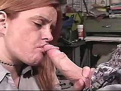 Enormous busty woman gets cum on tits after fucks
