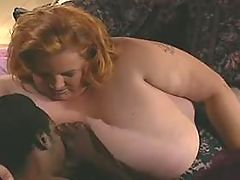 Chubby ebony fucking hard with white dude