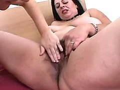 Enormous busty woman gets cum on tits after fucks bbw mpegs