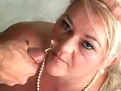 Chubby mature with giant melons gets facial bbw mpegs