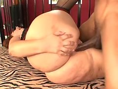 Depraved BBW gets cum on huge ass