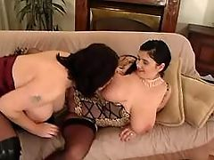 Chubby lesbians presents huge melons