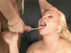 Yummy pregnant blonde gets mouthful bbw mpegs