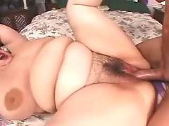 Flabby Asian fatty blows and fucks with dude
