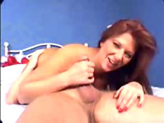 Plumper Kat bouncing on cock