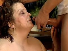Lusty mature BBW gets cum on face bbw mpegs