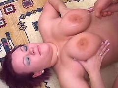 Young fatty gets cumload on melons