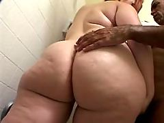 Black obese lady fucking with dude