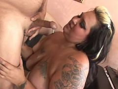 Fat slut gets fuck and cum on tits bbw mpegs