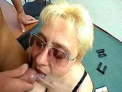 Guy cums in mouth of fat secretary bbw mpegs