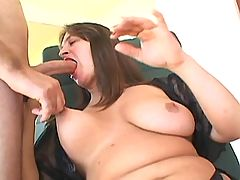 BBW honey fucks hard with horny dude