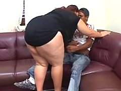 Lewd flabby woman seduces black guy bbw mpegs