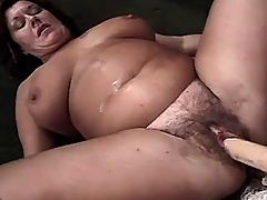 Depraved Chubby lady fucks with dude on sofa bbw mpegs