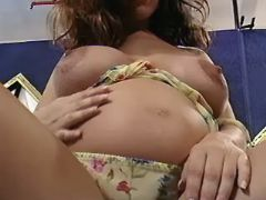 Pregnant chick presents round belly bbw mpegs