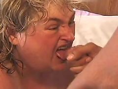 Sensual obese mature masturbate wet cunt on bed
